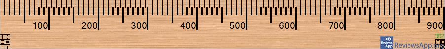 A Ruler for Windows menu
