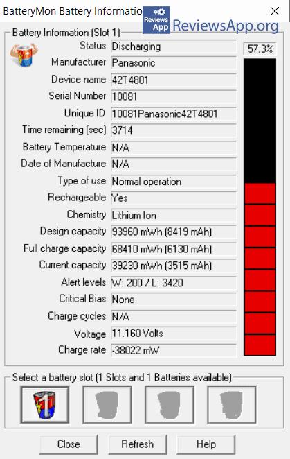 BatteryMon Battery Information