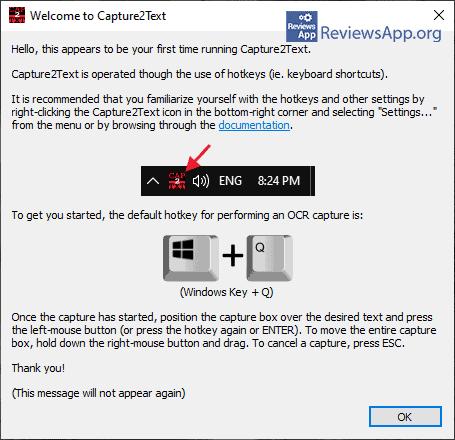 Capture2Text developer message