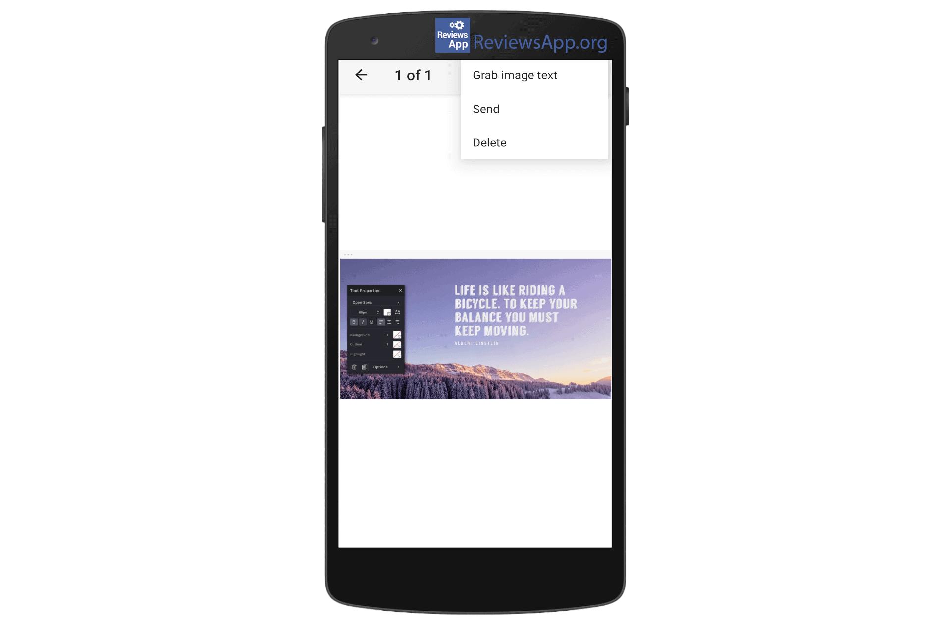 Google Keep grab image text