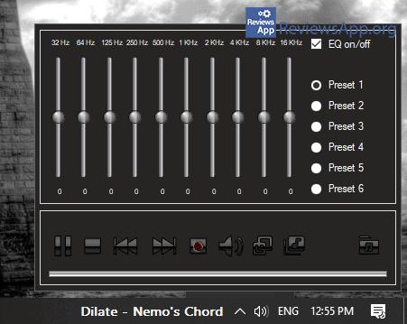 Tray Radio audio equalizer