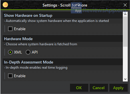 Xiret settings
