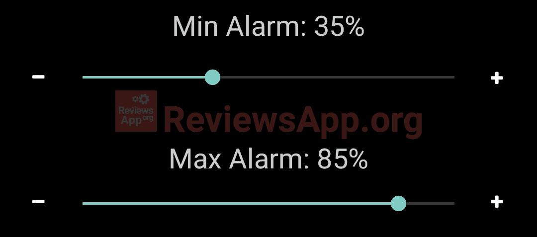 Battery Alarm - sliders