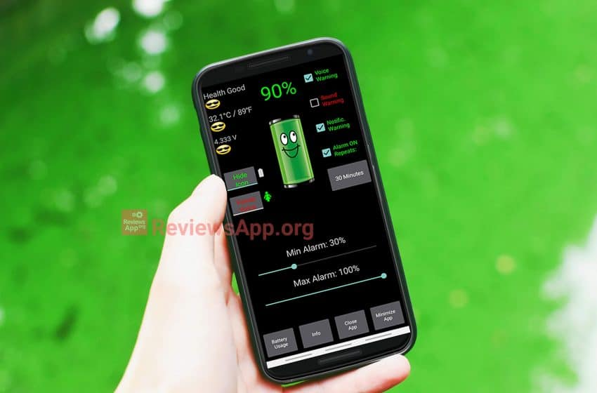 Battery charge alarm – free app for Android