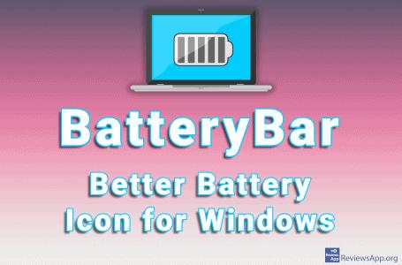 BatteryBar – Better Battery Icon for Windows