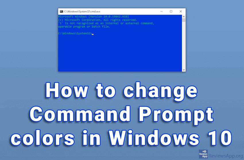 How to change Command Prompt colors in Windows 10