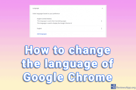 How to change the language of Google Chrome
