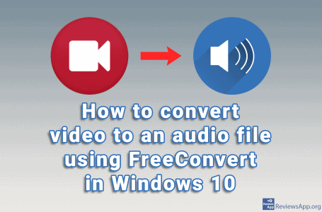 How to convert video to an audio file using FreeConvert in Windows 10