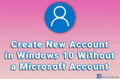 Create New Account in Windows 10 Without a Microsoft Account