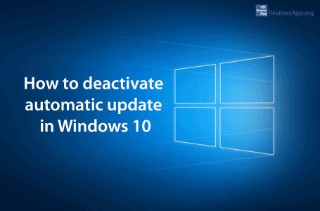 Deactivate automatic update in Windows 10