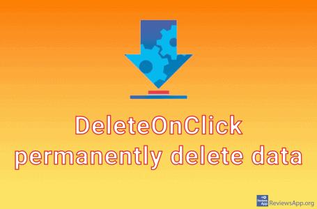 DeleteOnClick – permanently delete data