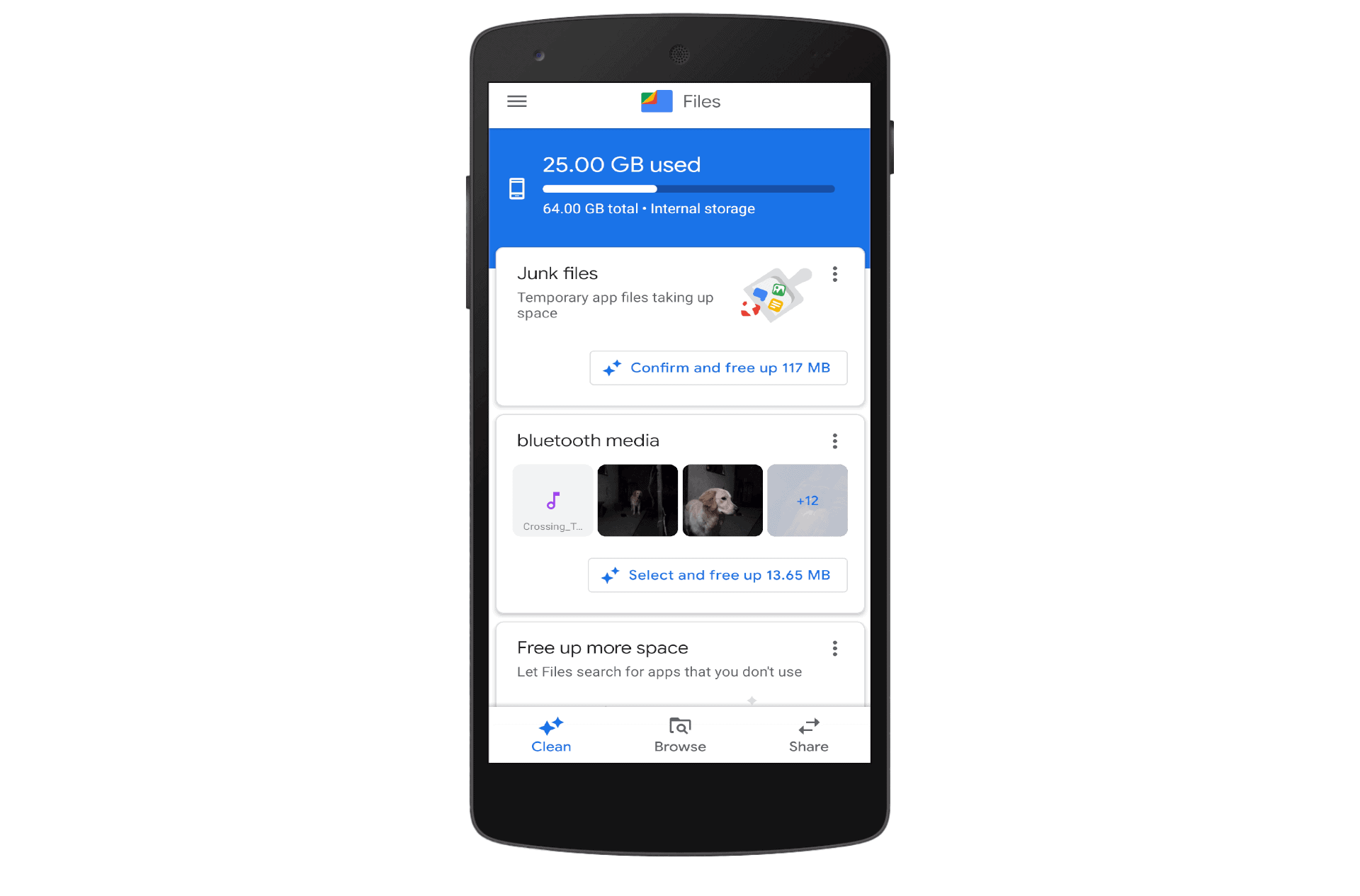 Files by Google Clean