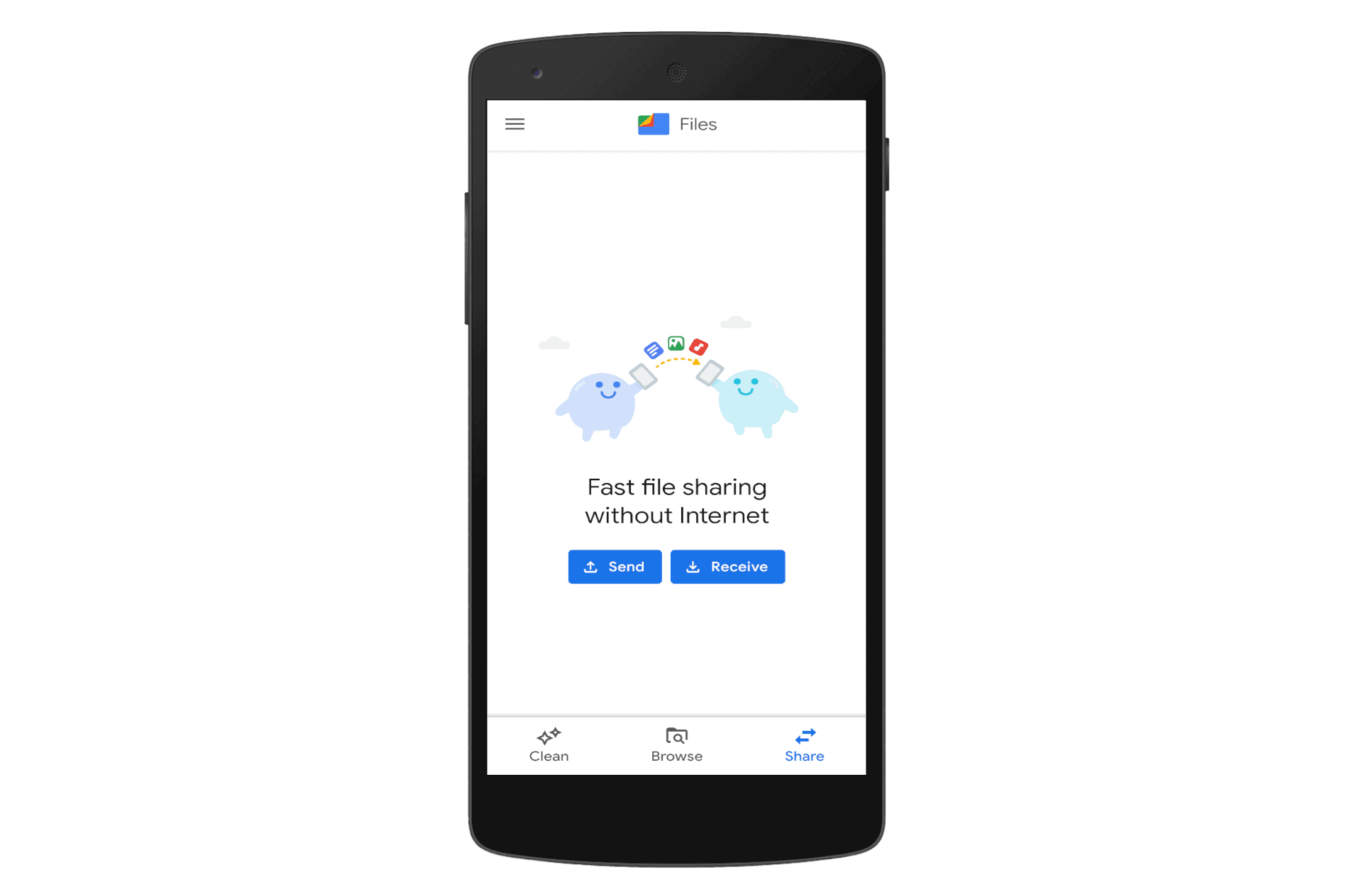 Files by Google Share
