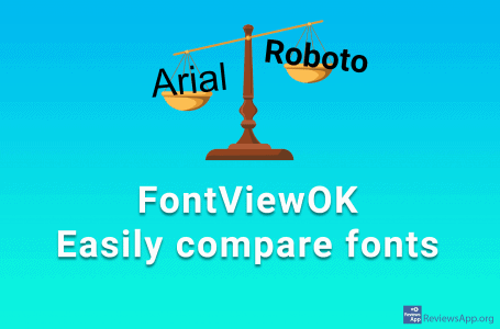 FontViewOK – compare fonts easily