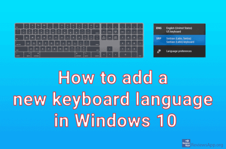 How to add a new keyboard language in Windows 10