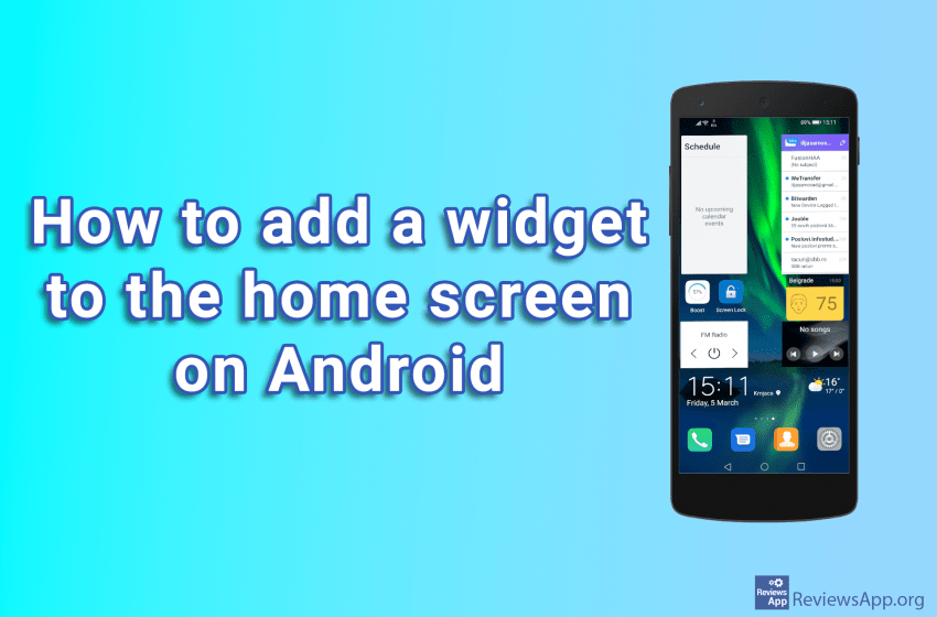 How to add a widget to the home screen on Android