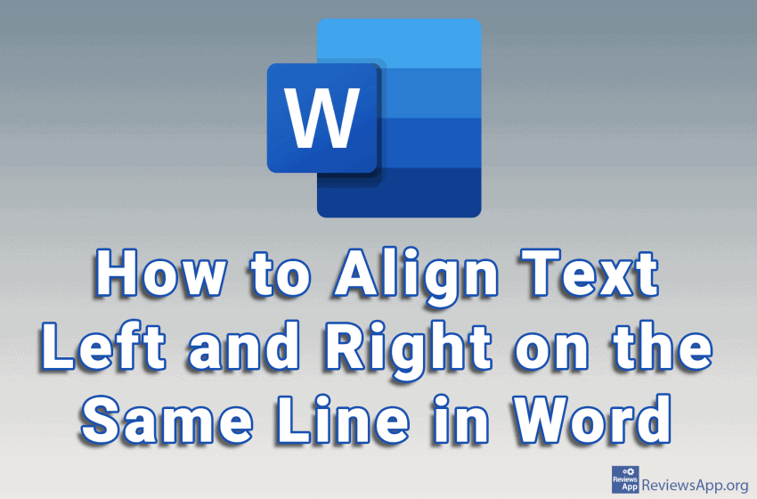 How to Align Text Left and Right on the Same Line in Word