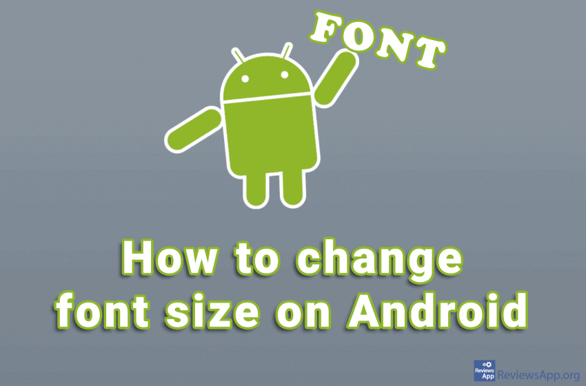 How to change font size on Android