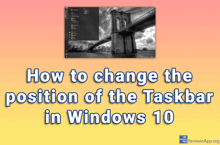 How to change the position of the Taskbar in Windows 10