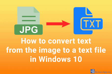 How to convert text from the image to a text file in Windows 10