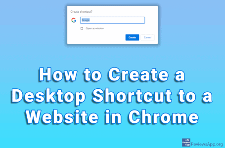 How to Create a Desktop Shortcut to a Website in Chrome