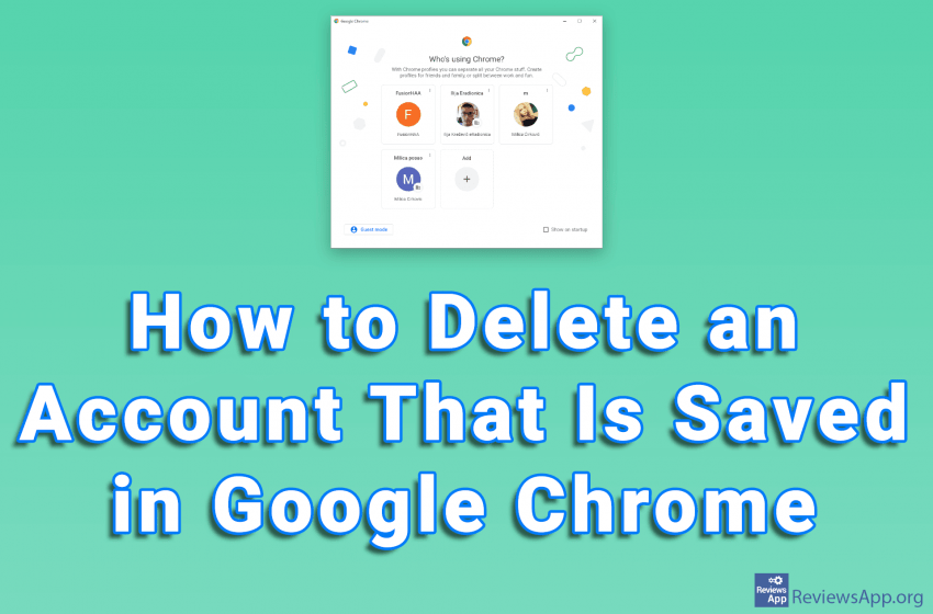 How to Delete an Account That Is Saved in Google Chrome