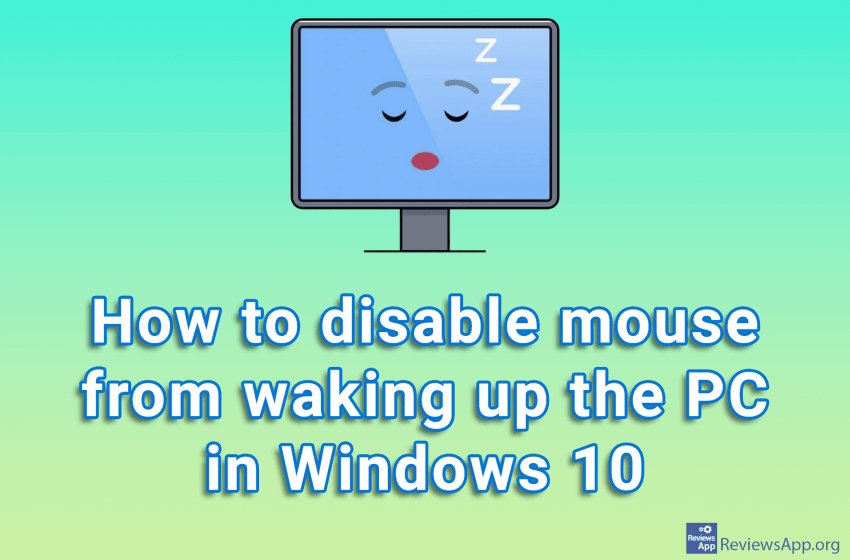 How to disable mouse from waking up the PC in Windows 10