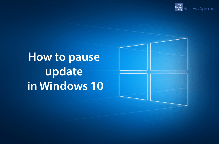 How to pause update in Windows 10