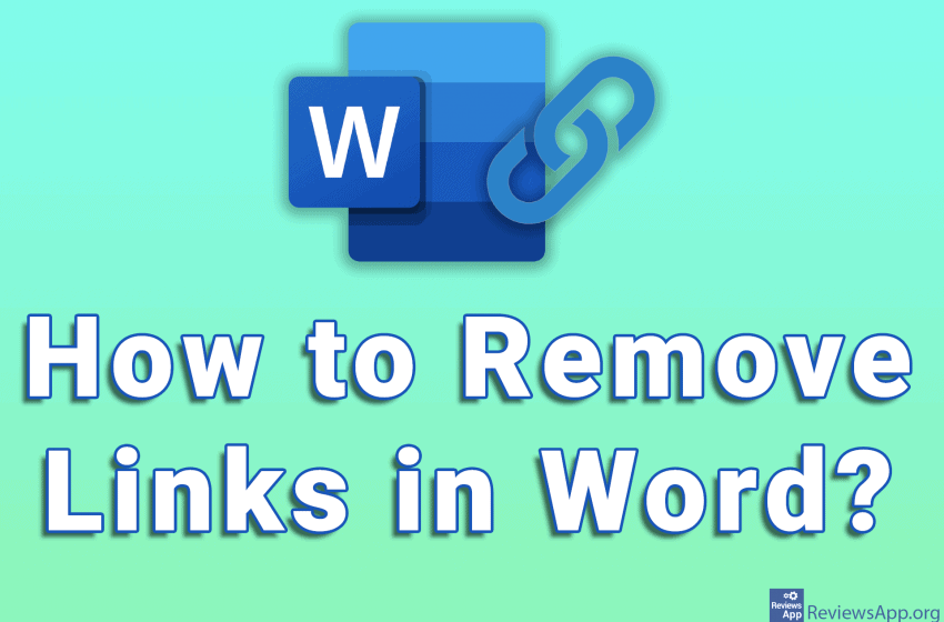 How to remove links in Word
