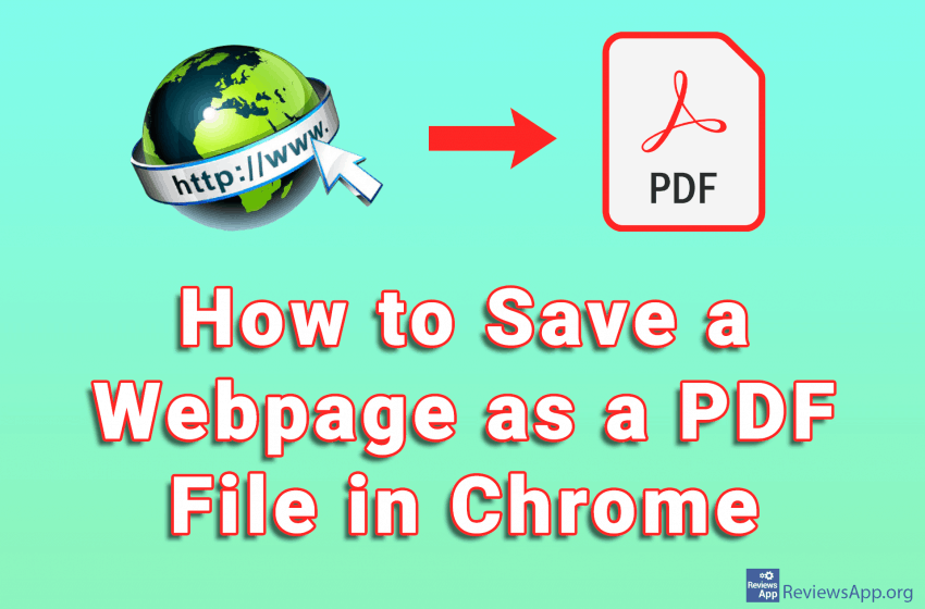 How to Save a Webpage as a PDF File in Chrome