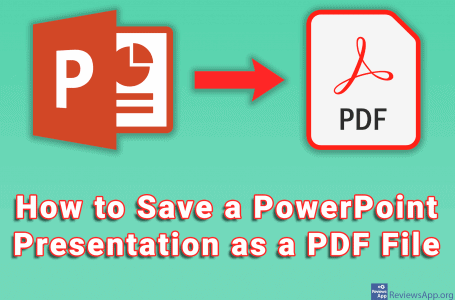 How to Save a PowerPoint Presentation as a PDF File