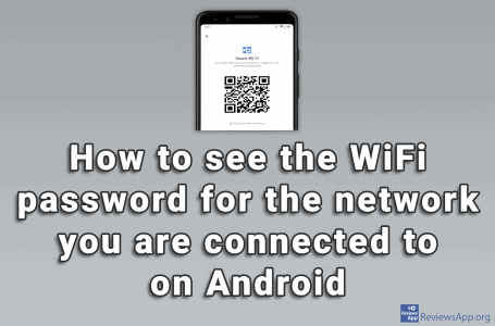 How to see the WiFi password for the network you are connected to on Android