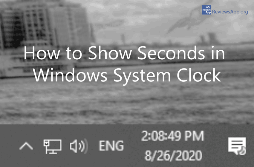 How to show seconds on system clock in Windows 10