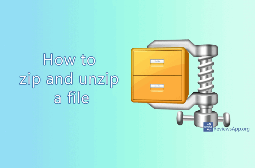 How to zip and unzip a file in Windows 10