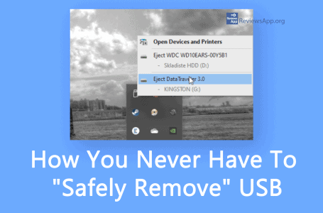 """How You Never Have To """"Safely Remove"""" USB in Windows 10"""