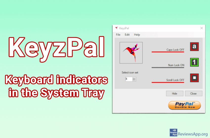 KeyzPal – keyboard indicators in the System Tray