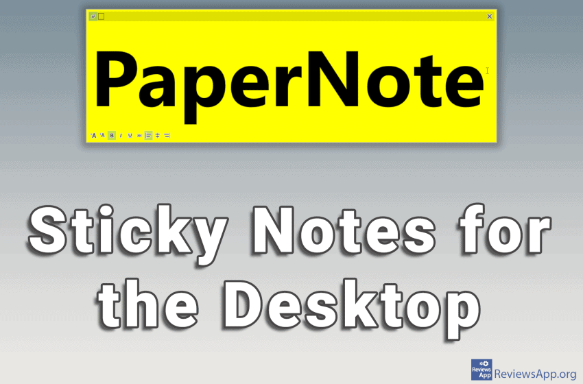 PeperNote – Sticky Notes for the Desktop