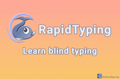 RapidTyping – learn blind typing