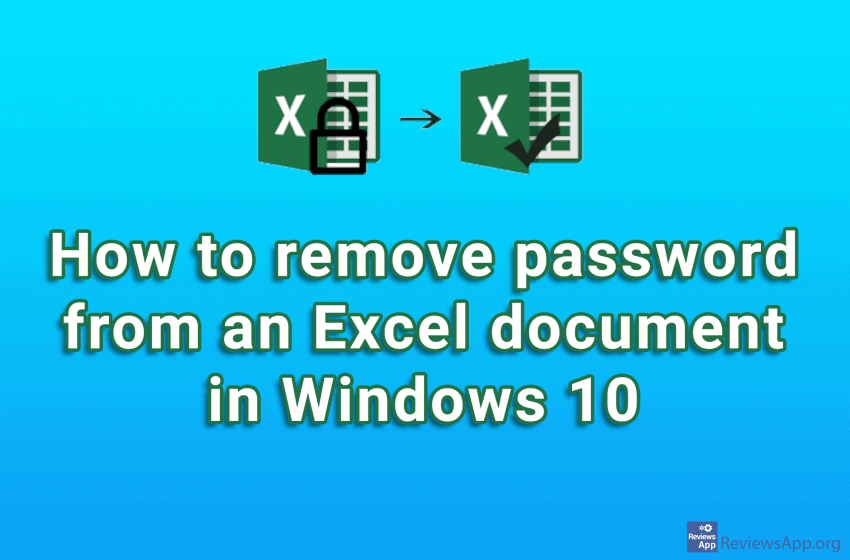 How to remove password from an Excel document in Windows 10