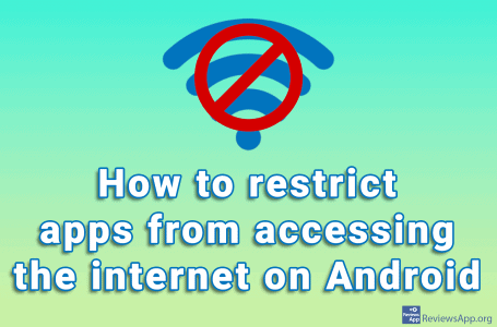How to restrict apps from accessing the internet on Android