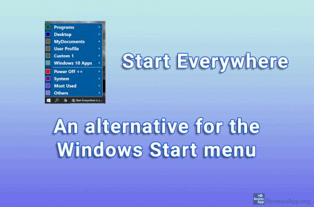 Start Everywhere – an alternative for the Windows Start menu