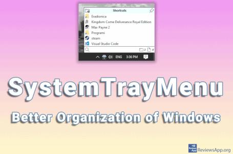 SystemTrayMenu – Better Organization of Windows