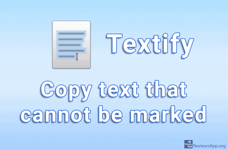 Textify – copy text that cannot be marked