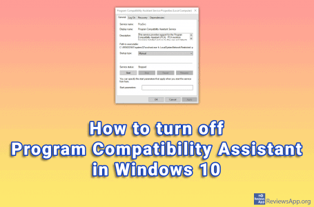 How to turn off Program Compatibility Assistant in Windows 10