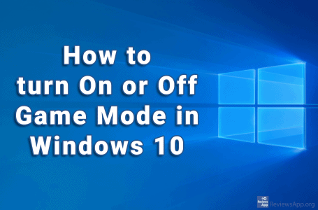 How to turn on or off Game Mode in Windows 10
