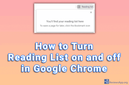 How to Turn Reading List on and off in Google Chrome