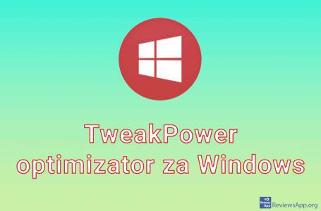 TweakPower Optimizer for Windows 10