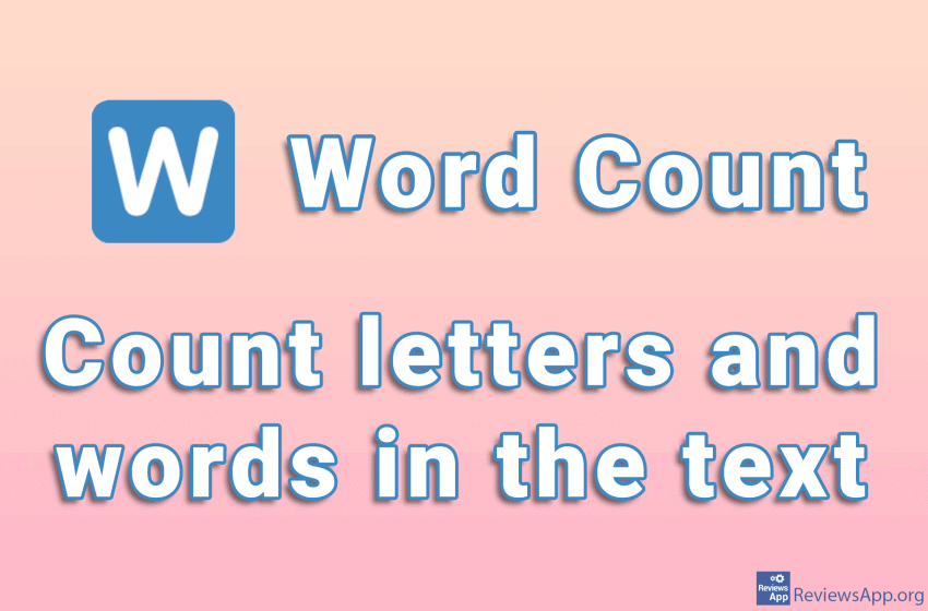 Word Count – count letters and words in the text