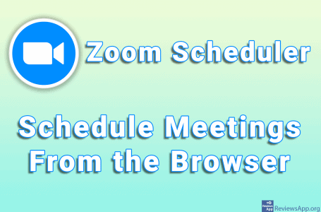 Zoom Scheduler – Schedule Meetings From the Browser
